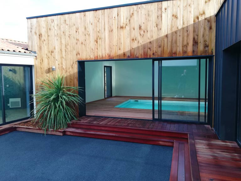 piscine vu du patio