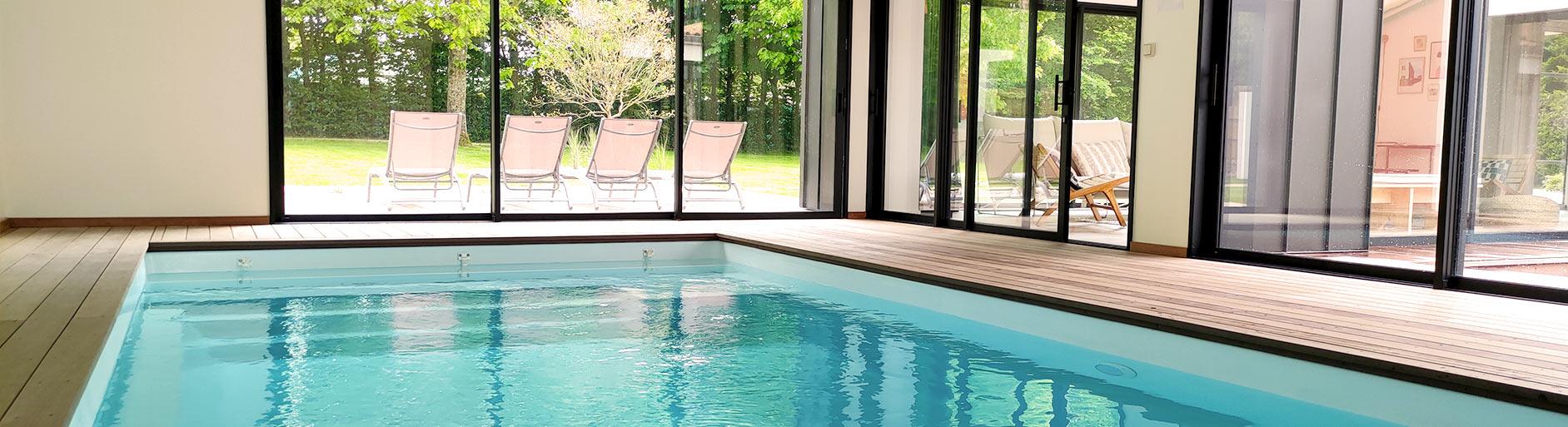 piscine couverte gite les herbiers vendée